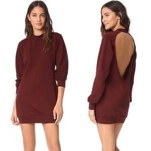 NWT Cotton Citizen Milan Backless Sweatshirt Dress